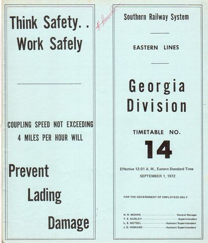 Southern Georgia Division 1972