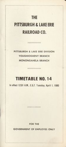 Pittsburgh & Lake Erie Railroad 1980