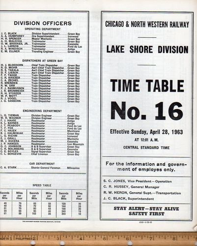 Chicago & North Western Lake Shore Division 1963