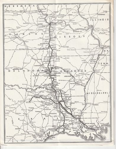 Kansas City Southern Lines Map 1960